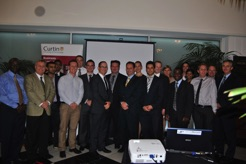With Curtin MBA students 2012